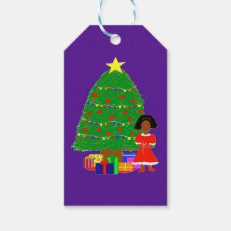Kakao-Süsse-Weihnachten Baum-Lila Geschenkanhänger