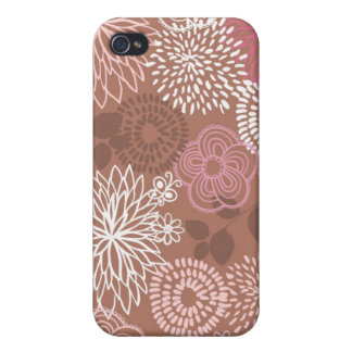 Kakao u. rosa Fall der Blumen-iPhone4 iPhone 4 Case