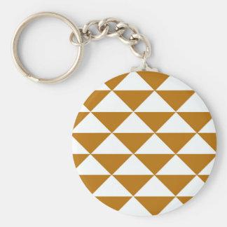 Kakao und weiße Dreiecke Schlüsselanhänger