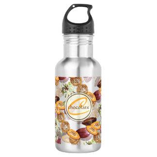 Kakaobohnen, Schokoladen-Blumen, die Geschenke der Edelstahlflasche