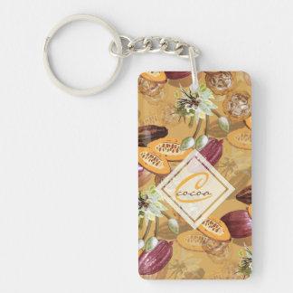 Kakaobohnen, Schokoladen-Blumen, die Geschenke der Schlüsselanhänger