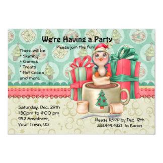 Kakaopenguin-Winter-Spaß-Party Karte