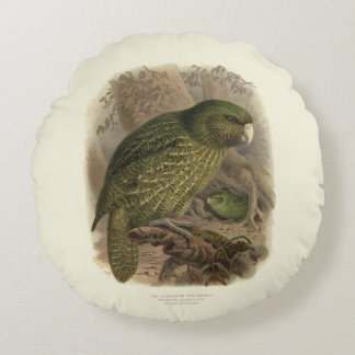 Kakapo-rundes Kissen