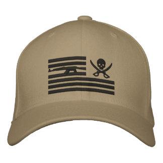 Kakifarbige Freiheits-Piraten-Betreiber-Kappe Bestickte Kappe