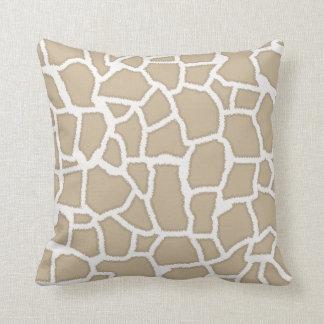 Kakifarbige Giraffen-Tierdruck Kissen