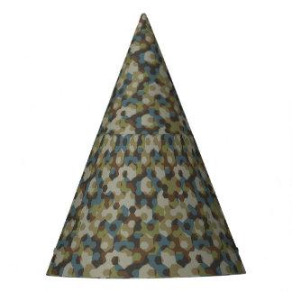 Kakifarbige Hexagontarnung Partyhütchen
