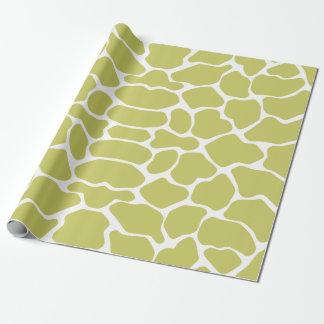 Kakifarbige Safari-Giraffe Geschenkpapier