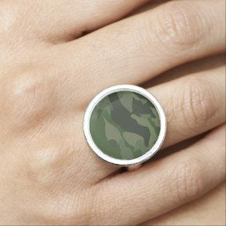 Kakifarbige Tarnung Ring