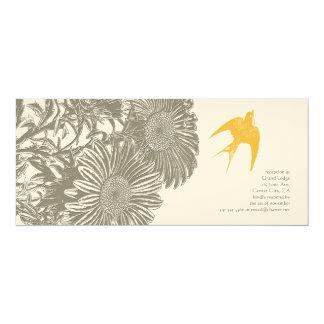 Kakifarbige Vintage Blumen-und Karte