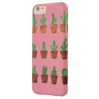 Kaktus auf rosa Telefon-Kasten Barely There iPhone 6 Plus Hülle