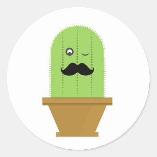 Kaktus-Aufkleber Runder Aufkleber