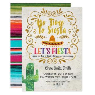 Kaktus-Babyparty-Einladungs-Gold Karte