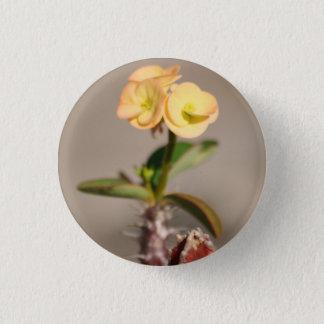 Kaktus-Blumen-Button Runder Button 3,2 Cm