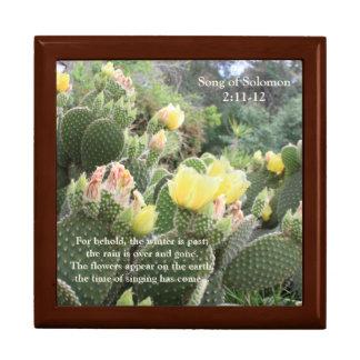 Kaktus-Blumen-Lied des Solomon Schmuck-Kastens Schmuckschachtel