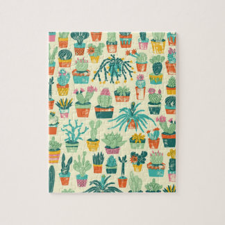 Kaktus-Blumen-Muster-Puzzle Puzzle