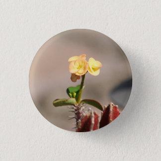 Kaktus-Blüten-Button Runder Button 3,2 Cm