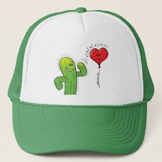 Kaktus, der mit einem Herz-Ballon flirtet Truckerkappe