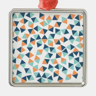 Kaktus-Dreiecke Silbernes Ornament
