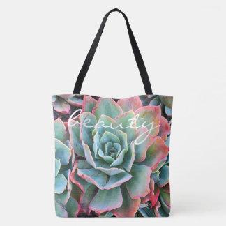 """Kaktus-Foto-Taschentasche """"des Schönheits"""" Zitats Tasche"""