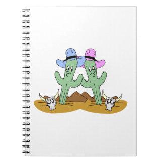 Kaktus-Freunde für immer Spiral Notizblock