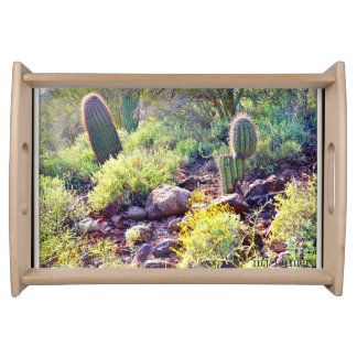Kaktus-Garten-Serviertablett Tablett