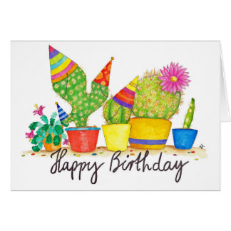 Kaktus-Geburtstagsgrußkarte durch Nicole Janes Karte