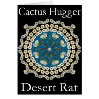 Kaktus Hugger T-Shirt mit Saguaro-Mandala Karte