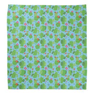 Kaktus ich Außenseite(blau) - Bandana Kopftuch