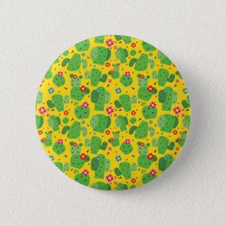 Kaktus ich Außenseite (Gelb) - Knopf Runder Button 5,1 Cm