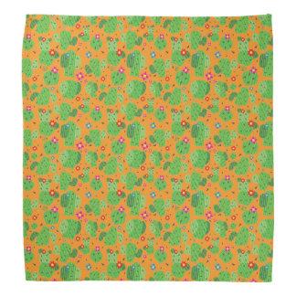 Kaktus ich Außenseite(orange) - Bandana Kopftuch