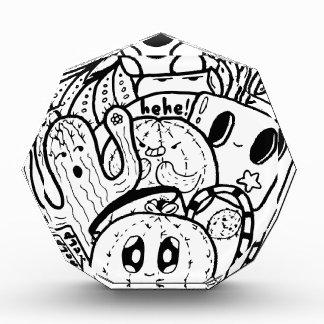 Kaktus-Liebe-einfaches Gekritzel Acryl Auszeichnung