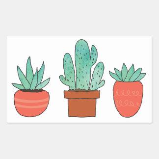 Kaktus macht perfekt rechteckiger aufkleber