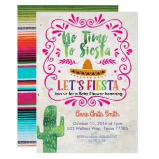 Kaktus-mexikanisches Babyparty-Einladungs-Gold Karte