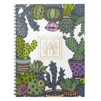 Kaktus-Monogramm A Notizblock