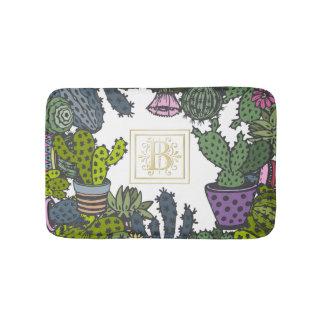 Kaktus-Monogramm B Badematte
