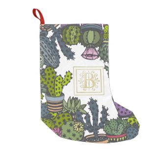 Kaktus-Monogramm B Kleiner Weihnachtsstrumpf