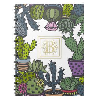 Kaktus-Monogramm B Notizblock