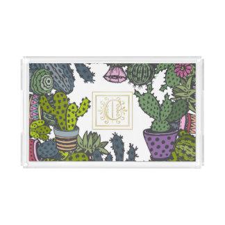 Kaktus-Monogramm C Acryl Tablett