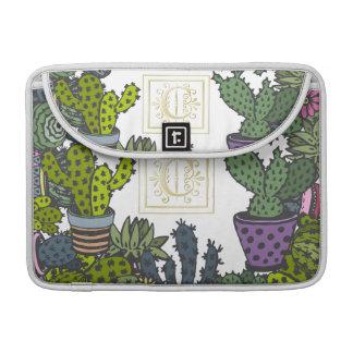 Kaktus-Monogramm C MacBook Pro Sleeve