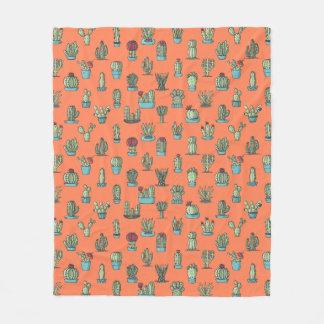 Kaktus-Muster-Fleece-Decke Fleecedecke