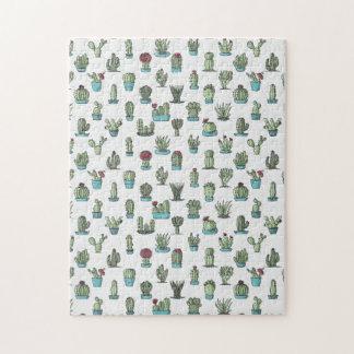 Kaktus-Muster-Puzzlespiel Puzzle