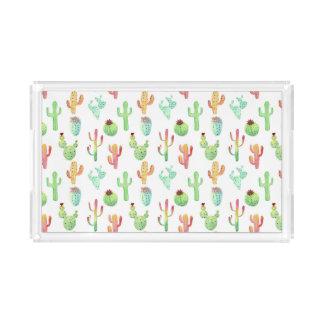 Kaktus-PastellAquarell-Muster Acryl Tablett
