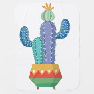 Kaktus-Pflanzen-Blumen-Entwurfskunst Babydecke