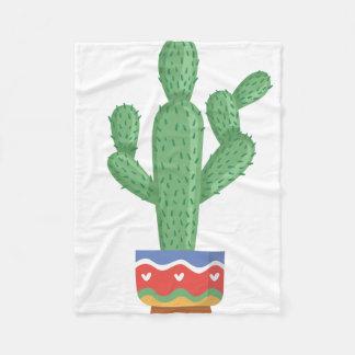 Kaktus-Pflanzen-Blumen-Entwurfskunst Fleecedecke