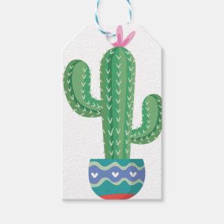 Kaktus-Pflanzen-Blumen-Entwurfskunst Geschenkanhänger
