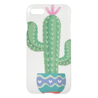 Kaktus-Pflanzen-Blumen-Entwurfskunst iPhone 8/7 Hülle