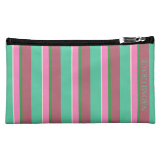 Kaktus-Pop-Paletten-Streifen personalisiert Cosmetic Bag