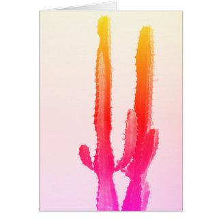 Kaktus-Regenbogen-Gruß-Karte, leer Karte