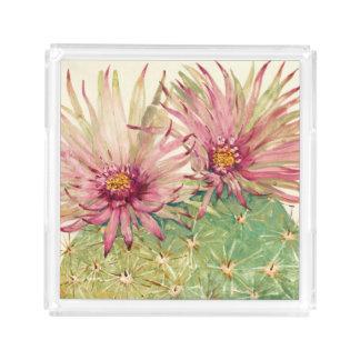Kaktus-rosa Blüten Acryl Tablett