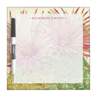 Kaktus-rosa Blüten Memoboard